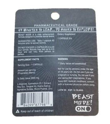 Beast Mode On Male Enhancement Pills