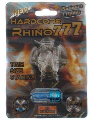 Rhino 777 Hardcore Platinum 10000 Male Enhancement Pills