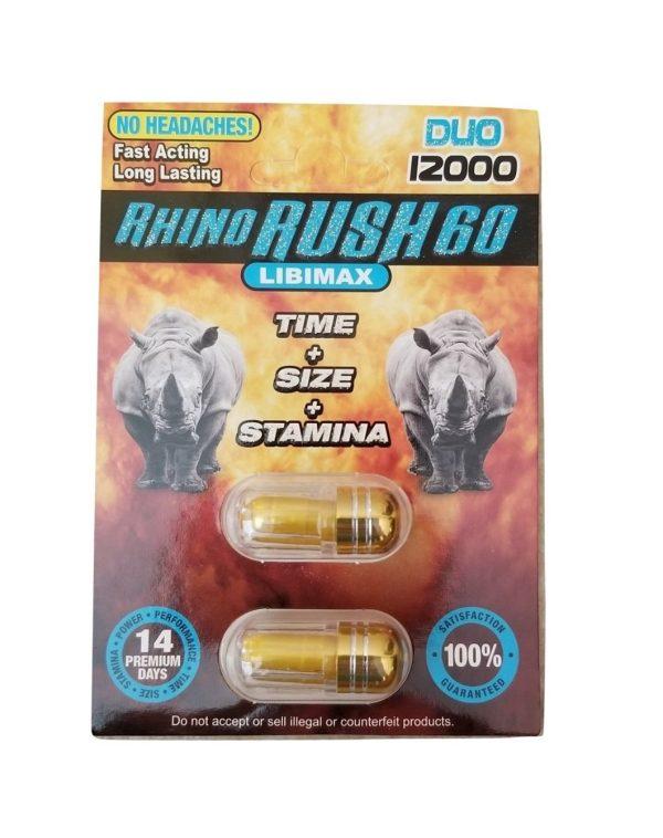Rhino Rush 60 Duo 12000 (2 Pills)