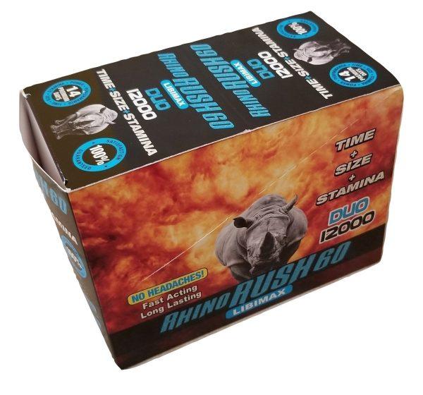 Rhino Rush 60 Duo 12000 Male Enhancement Pills