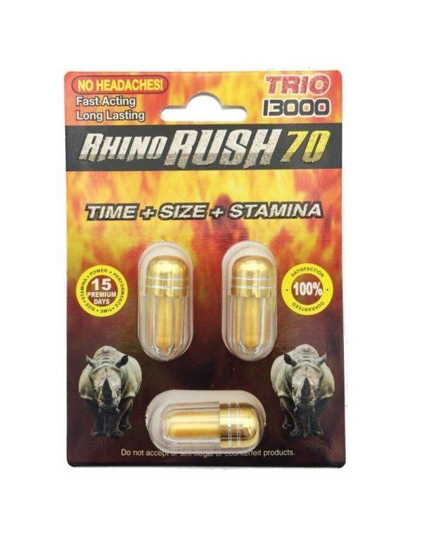 Rhino Rush 70 Trio 13000 (3 Pills)
