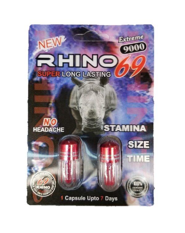 Rhino 69 9000 Male Enhancement Pill (2 Pills)