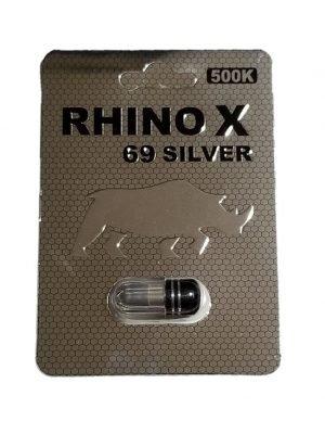 Rhino X 69 Silver 500K Male Enhancement Pill