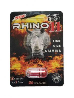 Rhino 11 Platinum 900K Male Enhancement