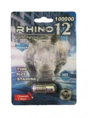Rhino 12 100000 Premium Male Enhancement Pills