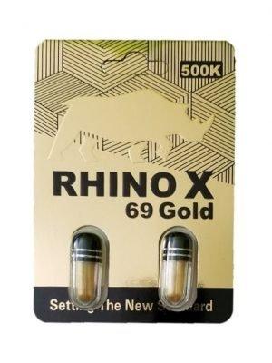 Rhino X 69 Gold 500K Male Enhancement (2 Pills)