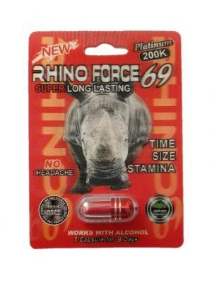 Rhino Force 69 Platinum 200K Male Enhancement Pill