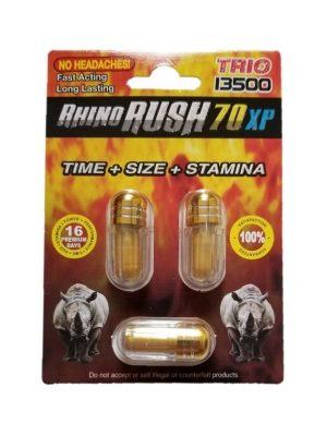 Rhino Rush 70 XP Trio 13500 (3 Pills)