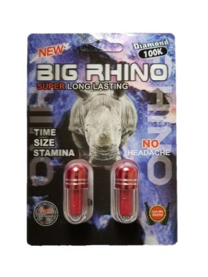 Big Rhino Diamond 100K Male Enhancement (2 Pills)