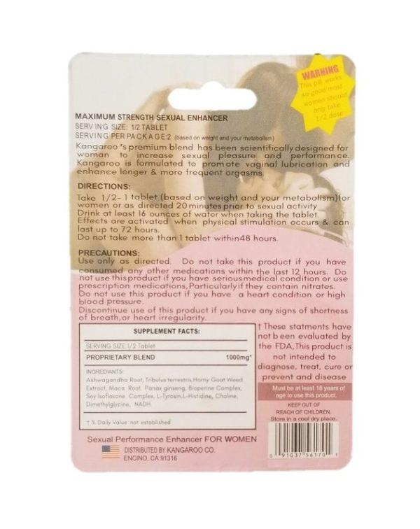 Kangaroo Pink Female Sensual Enhancement Pill