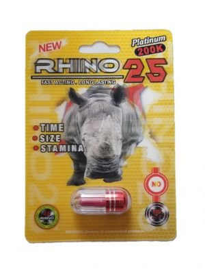 Rhino 25 Platinum 200K Male Enhancement Pill