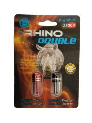 Rhino Double Premium 25000 Male Enhancement (2 Pills)