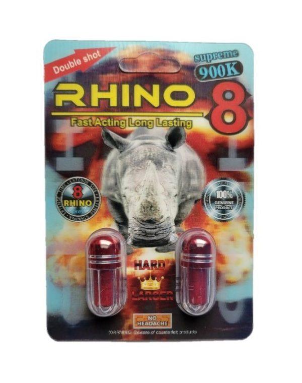 Rhino 8 Supreme 900K Male Enhancement (2 Pills)