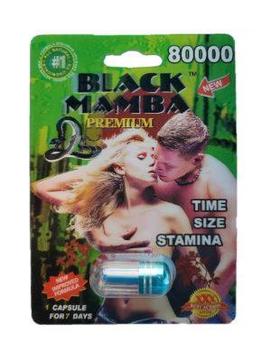 Black Mamba Premium 80000 Male Enhancement Pill