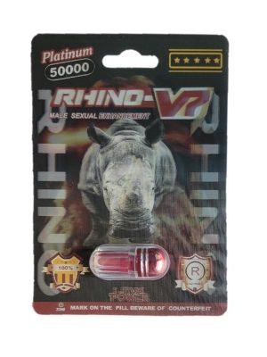 Rhino V7 Platinum 50000 Male Enhancement Pill